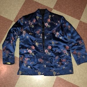 Reversible jacket peony oriental jacket brocade sm